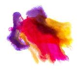 赤紫の黄色の背景水彩ブラシ テクスチャ分離 — ストック写真