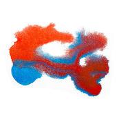 Texture de couleur tache pourpre rouge bleu macro tache isolée b blanc — Photo