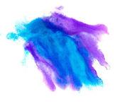 白を上に分離されて青いスポット紫色マクロ ブロッチ テクスチャ — ストック写真