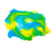 Цвета пятно синий зеленый макро пятно текстуры изолированный белый фонов — Стоковое фото