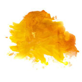 Yellow orange spot blot watercolors isolated — Stock Photo