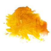Желтый оранжевый пятно пятно акварели изолированные — Стоковое фото
