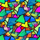 Seamless texture triangle kaleidoscope of colorful — Stock Photo