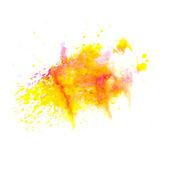 Orange Gelb Makro Fleck Fleck Textur auf eine weiße Rückseite isoliert — Stockfoto