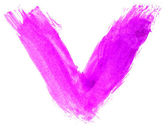 Přímé umění akvarel fialové klíště ukazatele struktury, samostatný bílé b — Stock fotografie