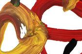 Acquerelli di trama arancio macro con tratti di pennello — Foto Stock
