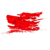 Red watercolors spot blotch isolated — Stock Photo