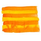 Orange line watercolors spot blotch isolated — Stock Photo