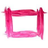 ペイント ブラシ フレーム正方形ピンク赤水彩テクスチャ上に分離されて — ストック写真