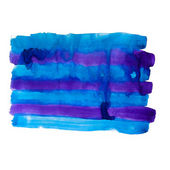 Abstract blue purple isolated white watercolors background — Stock Photo