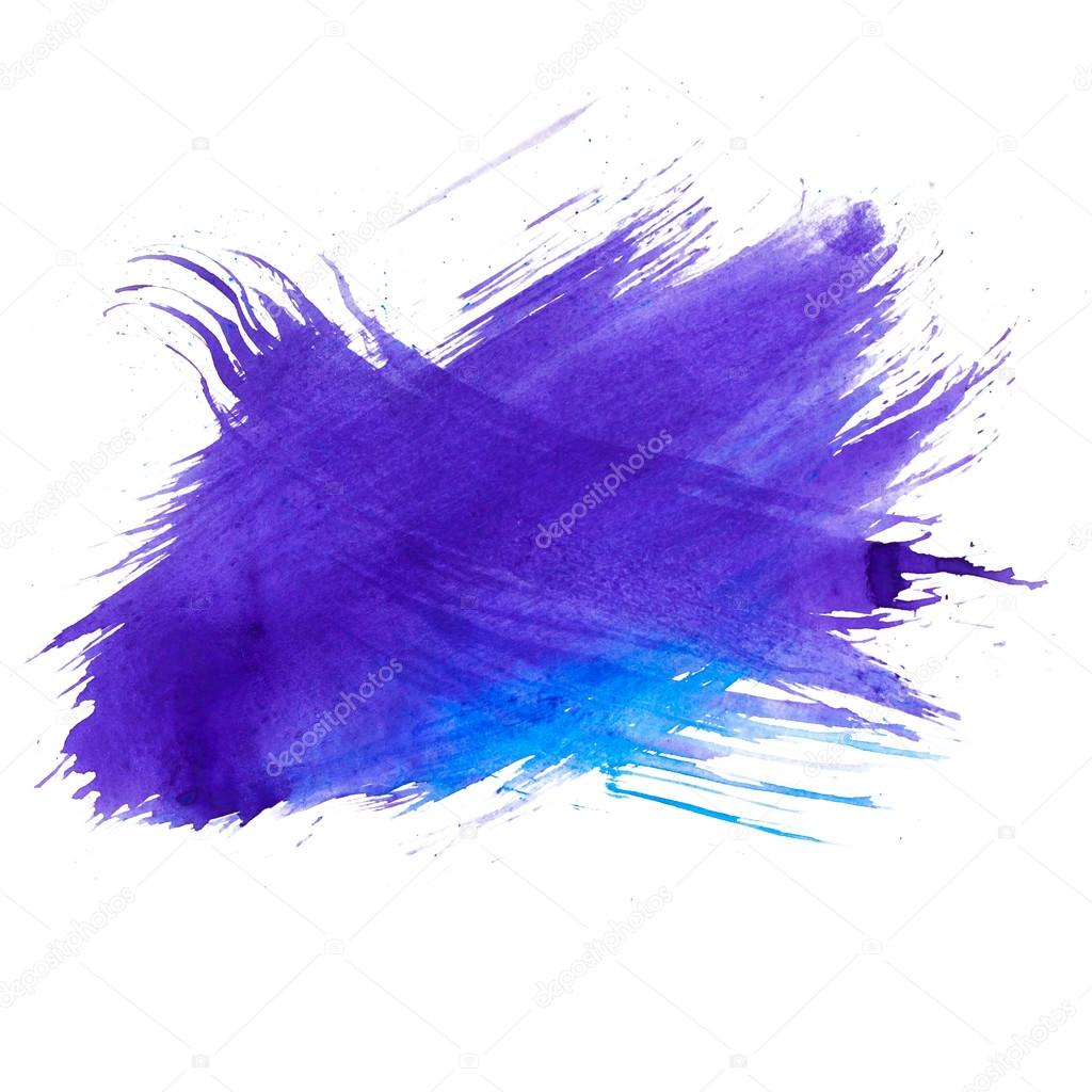 Blue watercolors spot blotch isolated — Stock Photo #15861445