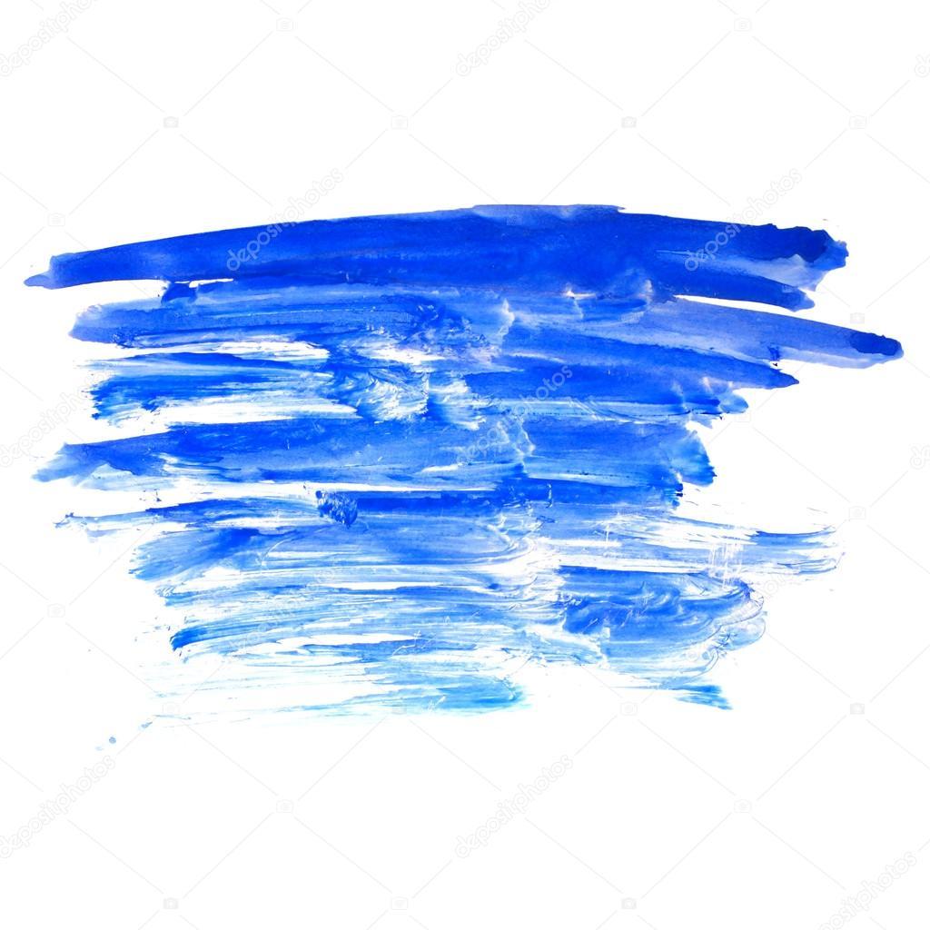 Acuarela azul trazo pintura pincel color agua aislado en for Color agua marina pintura