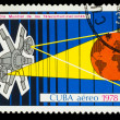 Stock Photo: CUB- CIRC1978: stamp printed in CUBA, Intercosmos program