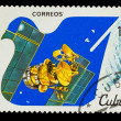Stock Photo: CUB- CIRC1982: stamp printed in CUBA, dresearch satellite,