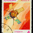 CUBA - CIRCA 1983: A stamp printed in Cuba, shows French space s - Стоковая фотография