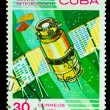 CUBA - CIRCA 1983: stamp printed by CUBA, shows meteorology sate — Stock Photo