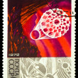 USSR - CIRCA 1972 : stamp printed in USSR, 15 years space age, s — Stock Photo