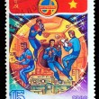 Stock Photo: USSR-CIRC1980: stamp printed in USSR, international flights