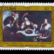 CUBA - CIRCA 1986: A Stamp printed in CUBA, shows anonymous flam — Stock Photo