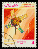 CUBA - CIRCA 1983: A stamp printed in Cuba, shows French space s — Foto Stock