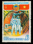 USSR - CIRCA 1980: A stamp printed in USSR, International flight — Foto de Stock
