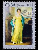 "CUBA - CIRCA 1973: A stamp printed by CUBA, j.k. Rossler, ""amali — Foto Stock"