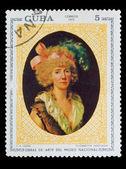 """CUBA - CIRCA 1973: A stamp printed by CUBA, FX Fabre """"Elizabetta — Stock Photo"""