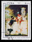 "CUBA - CIRCA 1973: Stamp printed in CUBA, Artist Plandaluze ""gal — Stock Photo"