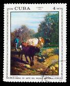 """Cuba - intorno al 1973: francobollo stampato da cuba, dimostra c. troyon """"regre — Foto Stock"""