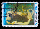 CUBA - CIRCA 1977: A stamp printed in Cuba, shows artist J. Arch — Stock Photo