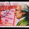 CUBA - CIRCA 1976: a stamp printed by Cuba, shows Francois Phili — Zdjęcie stockowe