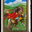 MONGOLIA - CIRCA 1972: A stamp printed by MONGOLIA , rider in na — Stock Photo