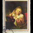 "USSR - CIRCA 1973: Stamp printed in USSR, shows Rembrandt, ""youn — Stock Photo"