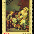 "USSR - CIRCA 1974: A stamp printed by USSR, Jean Greuze, ""spoile — Stock Photo"