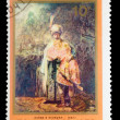 "USSR - CIRCA 1976: A stamp printed in USSR, Rembrandt, ""David an - Foto de Stock"