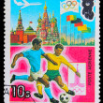 Постер, плакат: GUINEA CIRCA 1980: A stamp printed in GUINEA devoted to Olymp