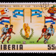 Royalty-Free Stock Photo: LIBERIA - CIRCA 1982: A post stamp printed LIBERIA, Argentina, N