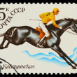 USSR - CIRCA 1982: A stamp printed in USSR, polo equestrian ,ath — Stock Photo