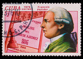 CUBA - CIRCA 1976: a stamp printed by Cuba, shows Francois Phili — Stock Photo