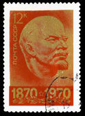 USSR - CIRCA 1970: A Stamp printed in USSR, showsportrait of lea — Stock Photo