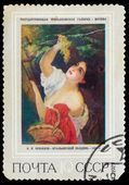 "USSR - CIRCA 1973: stamp printed by USSR, shows KP Bryullov ""Ita — Stock Photo"