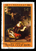 "USSR - CIRCA 1976: Stamp printed in USSR, shows ""Holy Family"", R — Stock Photo"