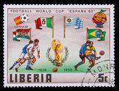 LIBERIA - CIRCA 1982: A post stamp printed LIBERIA, Brazil, Arge — Stock Photo