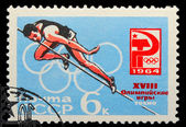 USSR - CIRCA 1964: A stamp printed in USSR, Olympic games in Tok — Fotografia Stock
