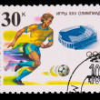 USSR - CIRCA 1991: A stamp printed in USSR, 25 Olympic Games soc — Stock Photo #15902721