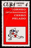 CUBA - CIRCA 1972: A Stamp printed by CUBA, shows Bare Hill Inte — Stock Photo
