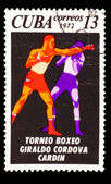 CUBA - CIRCA 1972: A Stamp printed by CUBA, shows Giraldo Cordov — Stock Photo