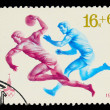 USSR - CIRCA 1980: A stamp printed in USSR, Olympic games Moscow - Stock Photo