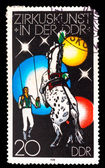 GERMANY - CIRCA 1978: A stamp printed in GERMANY, man with a hor — Foto Stock