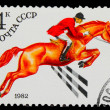 USSR - CIRCA 1982: A stamp printed in USSR, horse riding, jockey — Stock Photo #15920819